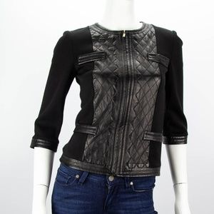 ST. JOHN Black Leather Jacket